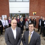 John Boughton and Neal Stephens outside Willmott Dixon's New Offices