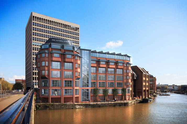 Penthouse office and top green standard promised for revamped Bristol building