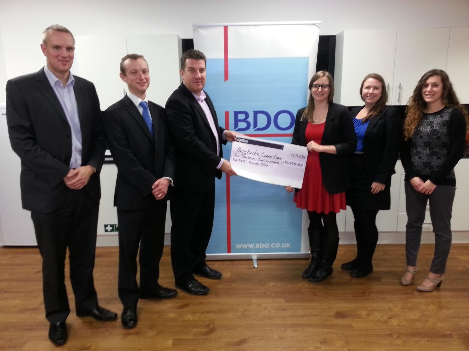 BDO Bristol staff beat charity fundraising target