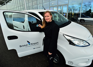 Electric van idea takes off at Bristol Airport as it prepares to launch range of Green Capital projects