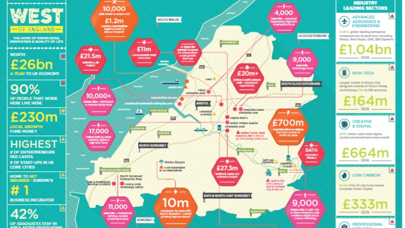 Map unveiled charting strengths of West of England in innovation and knowledge-based sectors
