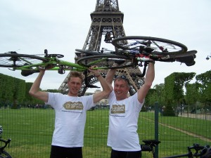 Charity cyclists' towering achievement as they go above and beyond to reach Paris in four days