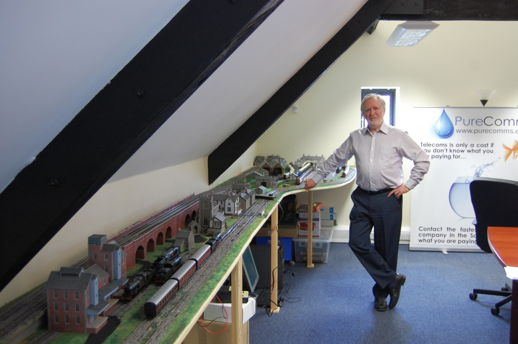 Boardroom train set on track to signal firm's hi-tech innovation