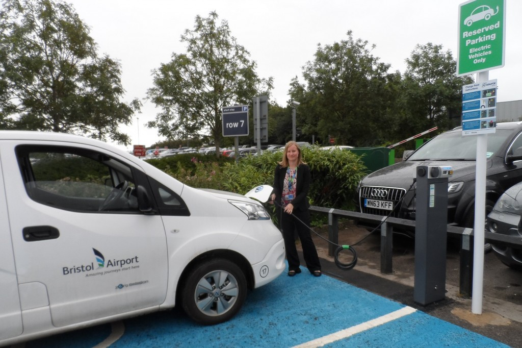 Bristol Airport charges ahead with powerful help for green car users