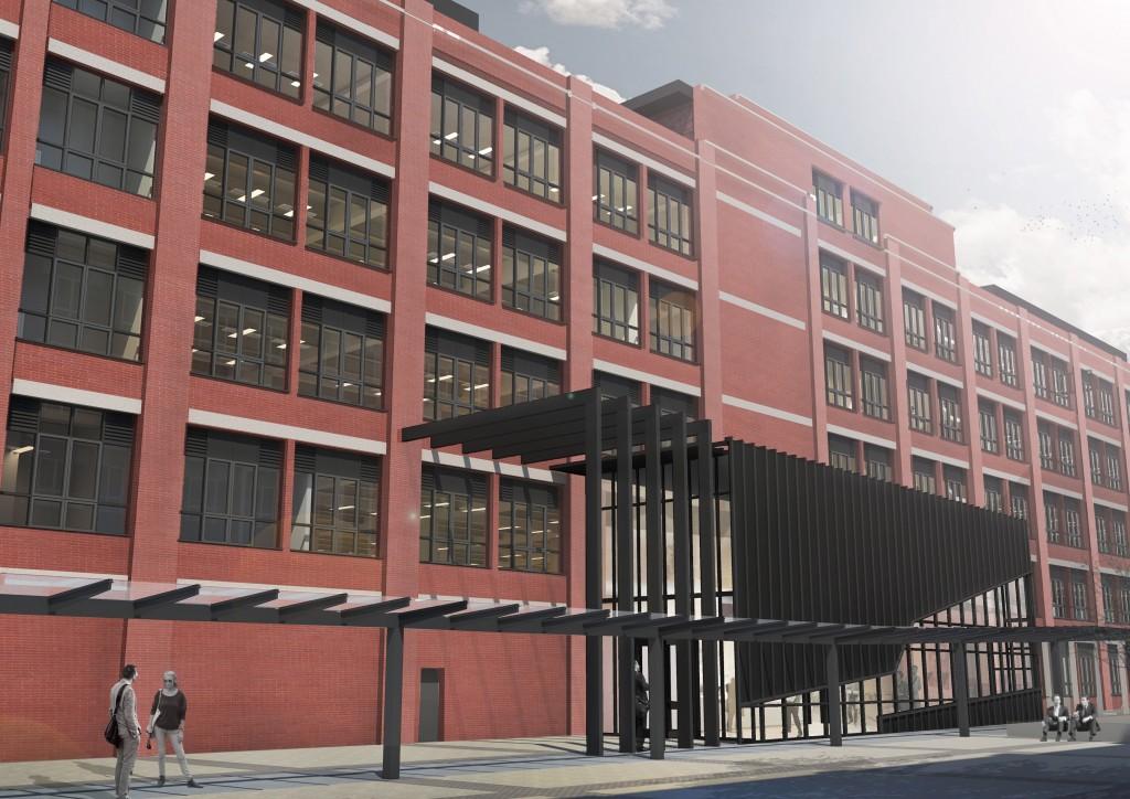 Distinctive new office scheme on former Cadbury's chocolate factory marketed by Alder King