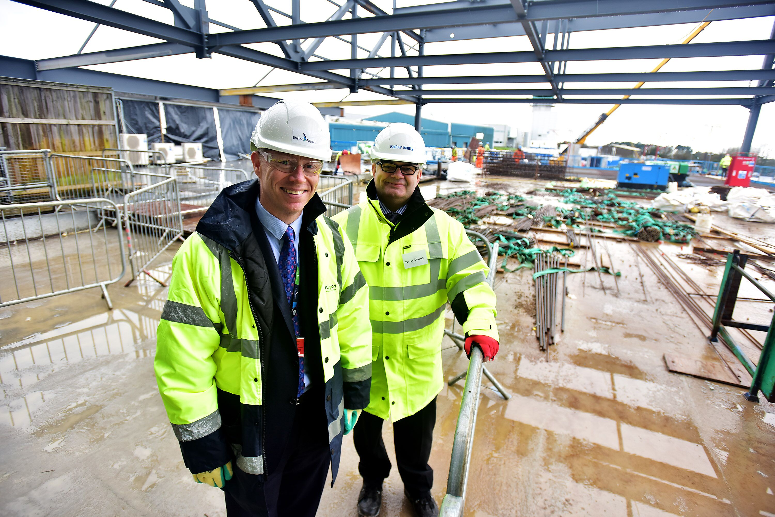 Building work on Bristol Airport's £24m terminal extension reaches new high