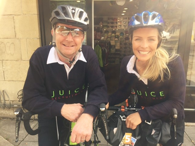 Team Juice get set to clock up the miles in charity bike ride