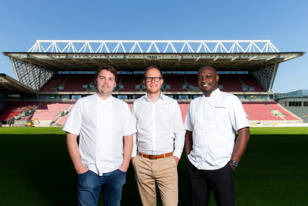 Michelin-starred chef teams up with Ashton Gate to create posh nosh for VIP sports fans
