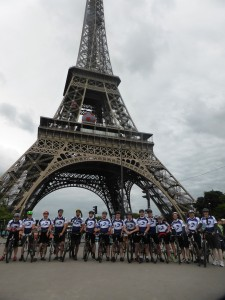 Towering achievement for Sanderson Weatherall London-Paris cycle challenge