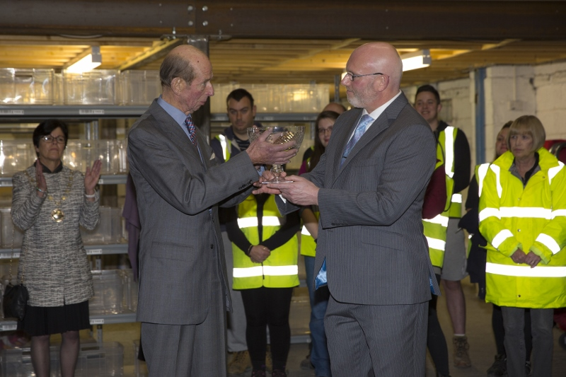 Royal visit for global success story – and Queen's Award winner – British Corner Shop