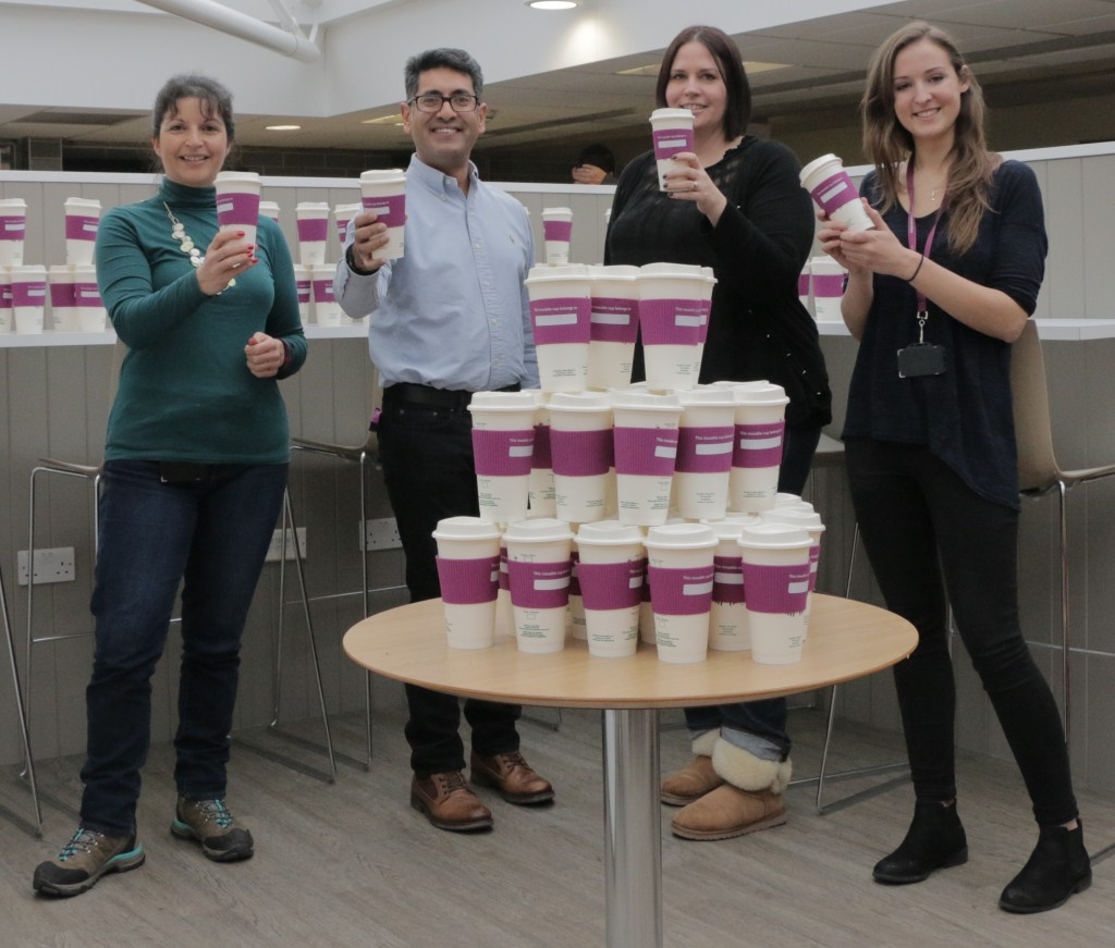 Same again? Computershare gives all Bristol staff reusable coffee cups to help reduce waste