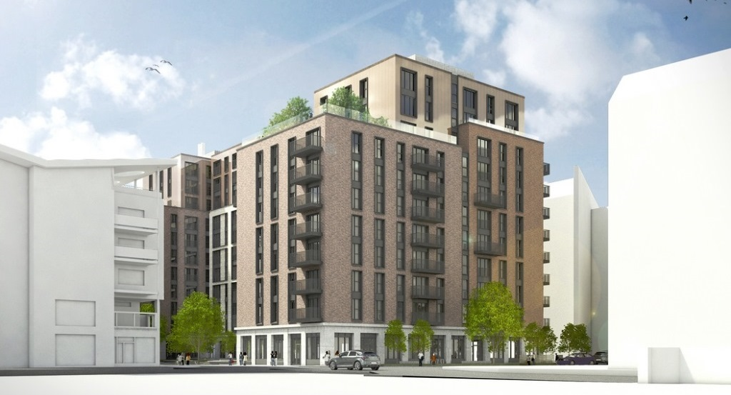 Planners recommend green light for 255-home Temple Quarter build-to-rent scheme