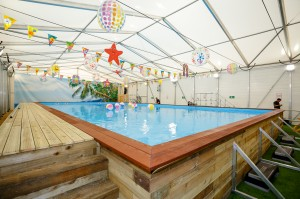 Leisure industry first as firms' masterstroke creates pop-up pool for summer swimmers