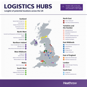 Bristol logistics hubs for Heathrow expansion on airport's longlist of potential sites