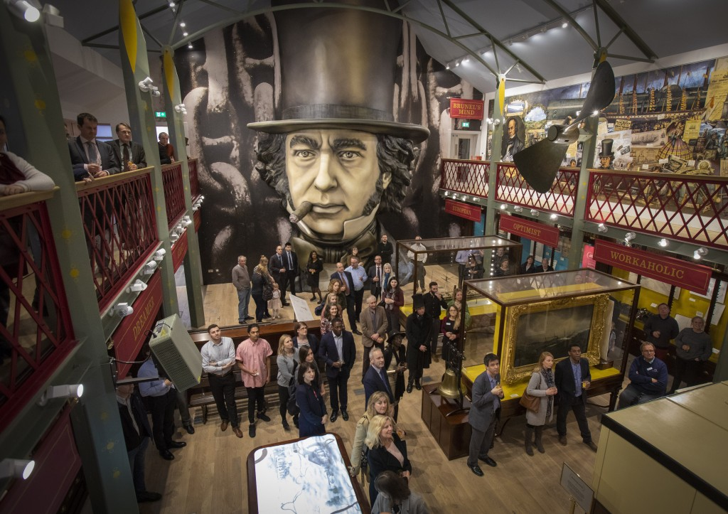 Corporate supporters' after-hours tour of Being Brunel brings innovative museum to life