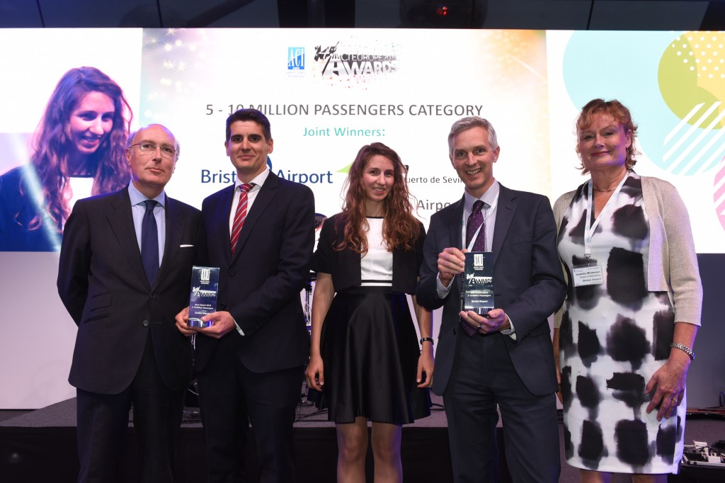 Continued investment at Bristol Airport lands it title of 'best in Europe'