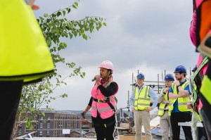 Topping out for former Harbourside gasworks site as development reaches key milestone