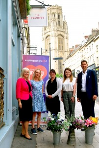 Flower power takes the lead as businesses line up to support Bristol Giving Day underway