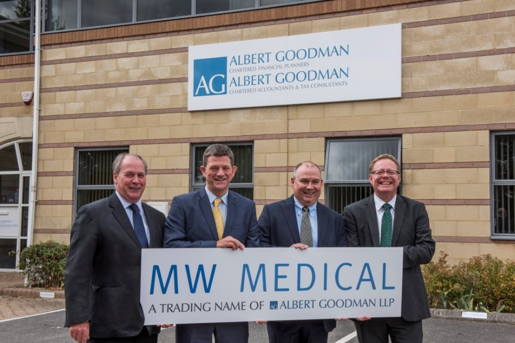 Regional accountancy group Albert Goodman links up with Bristol specialist firm MW Medical