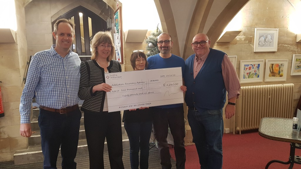 Smith & Williamson Christmas charity quiz unwraps £4,000 for Addiction Recovery Agency