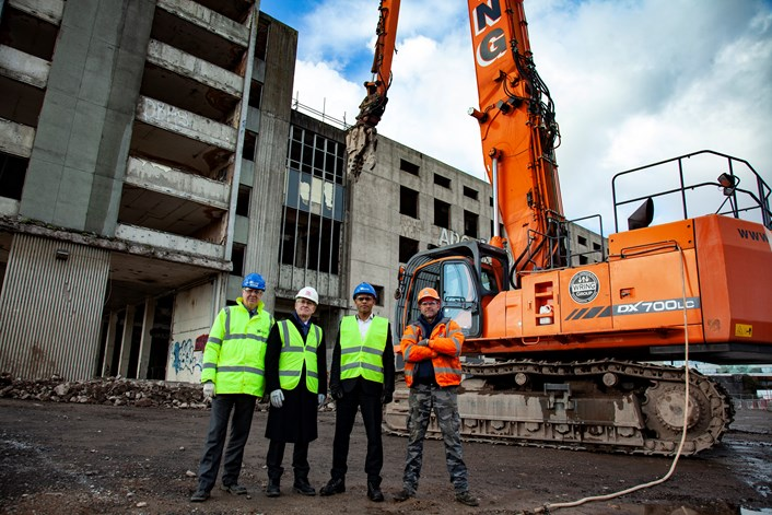 Red letter day for city as work starts to pull down Temple Mead's hated sorting office