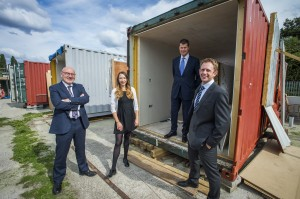 Businesses help convert containers into shipshape homes for Bristol's rough sleepers
