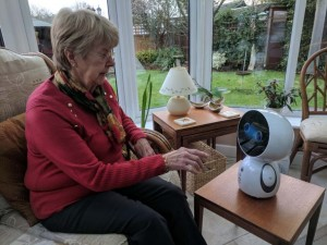 Start-up behind pioneering 'robot companion' to combat loneliness beats crowdfunding target