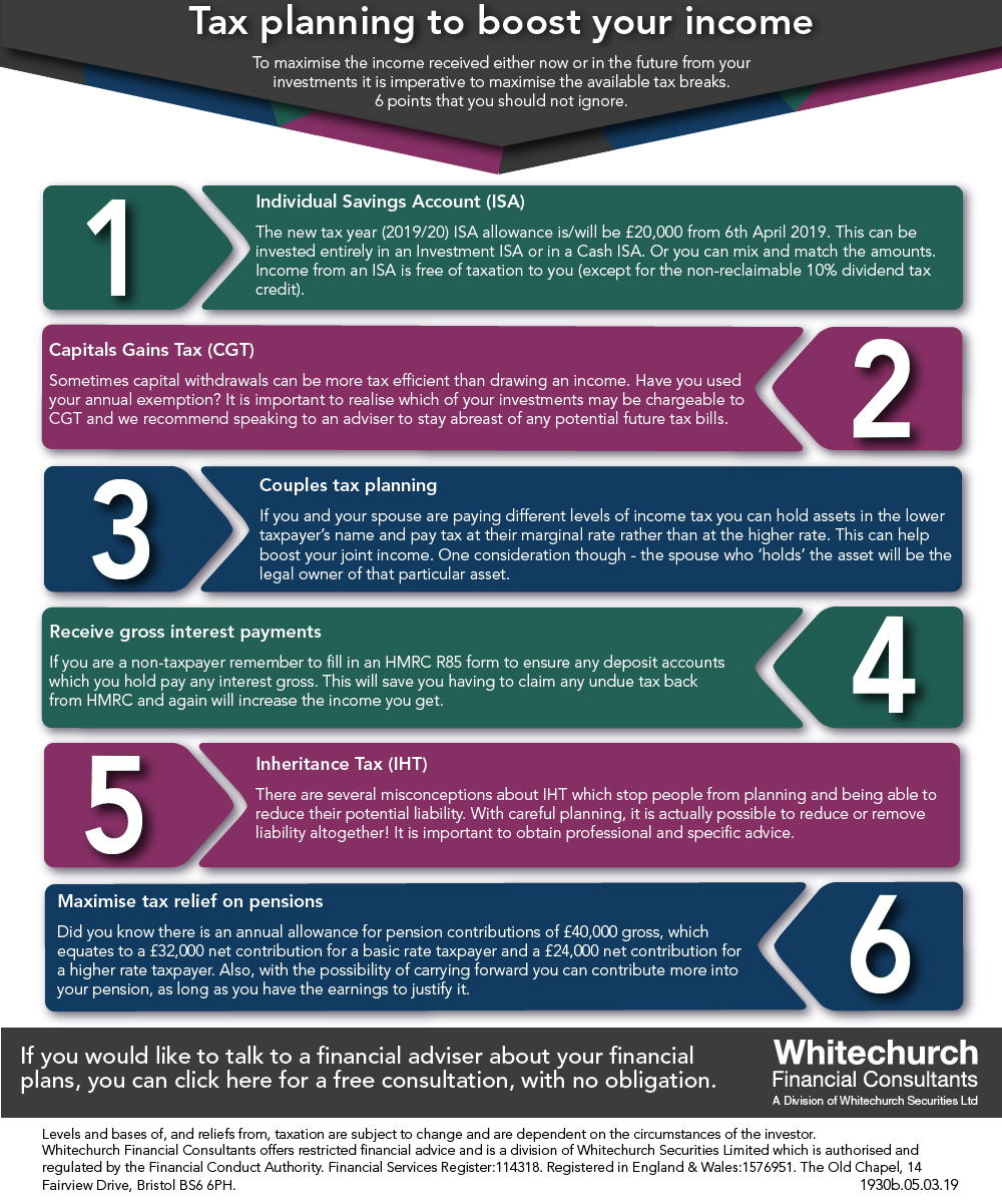 Whitechurch Financial Consultants: Tax planning