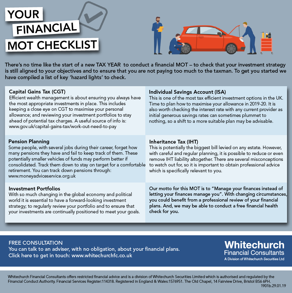 Whitechurch Financial Consultants: Your financial MOT checklist for the new tax year