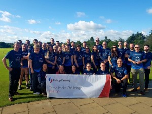 Bishop Fleming team in peak condition to raise £22,500 by scaling UK's three highest summits