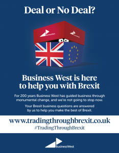 British Chambers award shortlisting for Business West's Trading Through Brexit campaign