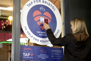 Pioneering contactless donation system taps into Bristol businesses' concern for city's homeless