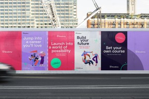 Coding bootcamp rebranded by Fiasco Design to reflects its values of diversity and inclusivity
