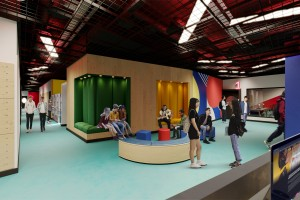 Creative college's £4.5m extension slots into place in ex-amusement arcade and music venue building