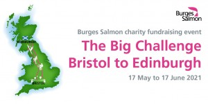 Burges Salmon staff walk, run and bike equivalent of 19,300 miles to help charities tackling child hunger