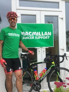 CBRE director keeps his cool to go the distance in cycle ride for Macmillan Cancer Support