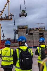 New high for Bristol office scheme as developers crane in fir tree to top it out